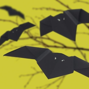 Houston Cleaning Service Crafts Halloween Origami Bats