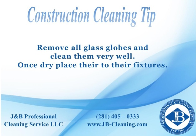 Construction Cleaning Tip Houston